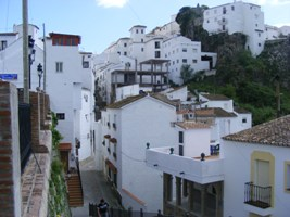 Village of Casares, situated in the Malaga province of Andalucia