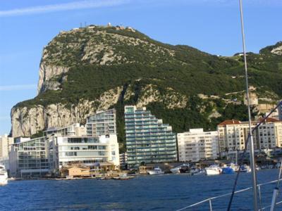 rock of gibraltar when sailing